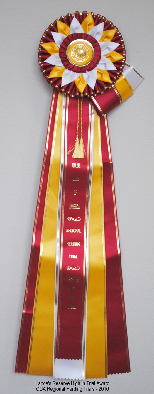 Lance's Reserve High in Trial ribbon-2010